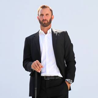 Dustin Johnson wears the new Hublot Big Bang Unico Golf Watch